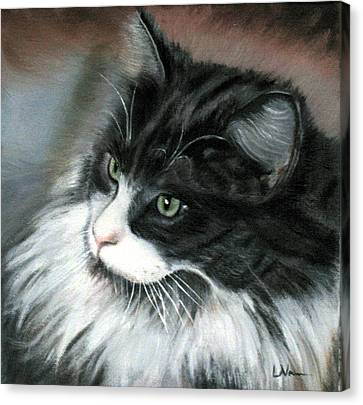 Canvas Print featuring the painting Dusty  by LaVonne Hand