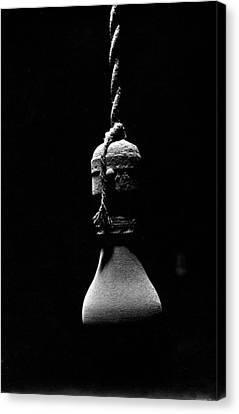 Version 1 Canvas Print - Dusty Light Bulb Jacob's Assay Office Tucson Arizona 1880-1969 Version 1 by David Lee Guss