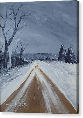 Dusty Road Canvas Print by Monica Veraguth