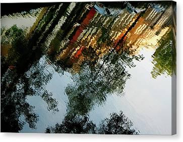 Dutch Canal Reflection Canvas Print