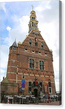 Dutch City Gate Restaurant Canvas Print by Carol Groenen
