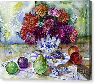 Dutch Dahlia Delights Canvas Print