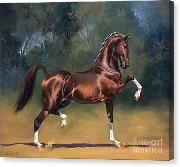 Dutch Harness Horse Saffraan Canvas Print by Jeanne Newton Schoborg