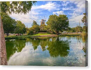 Canvas Print featuring the photograph Dutch Mill  by Liane Wright