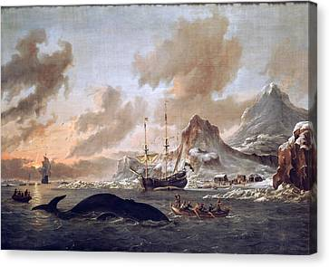 1690 Canvas Print - Dutch Whalers by Celestial Images
