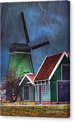 Dutch Windmill Canvas Print by Juli Scalzi