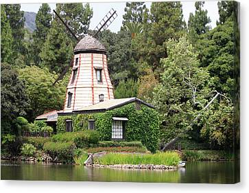 Canvas Print featuring the photograph Dutch Windmill by Ivete Basso Photography