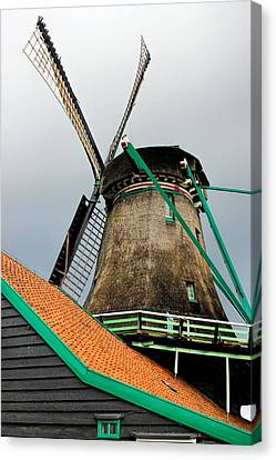 Zaandijk Canvas Print - Dutch Windmill by Jenny Hudson