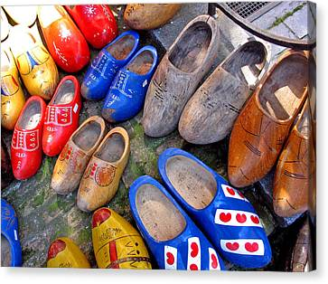 Dutch Wooden Shoes Canvas Print