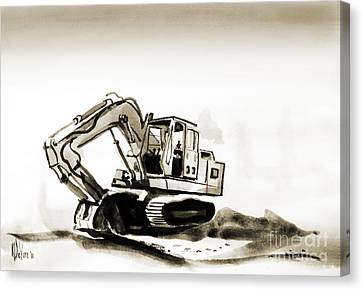 Duty Dozer In Sepia Canvas Print by Kip DeVore