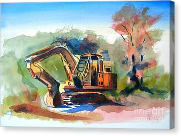 Duty Dozer Canvas Print by Kip DeVore