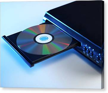 Dvd Player Canvas Print by Science Photo Library