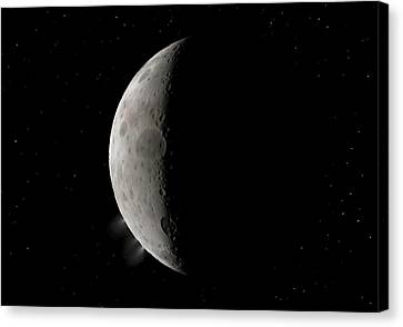 Dwarf Planet Ceres Crescent Canvas Print by Walter Myers