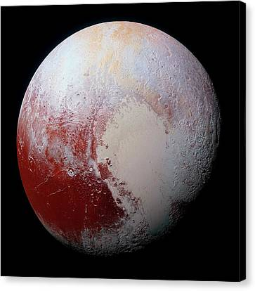 Dwarf Planet Pluto Canvas Print by Nasa/jhuapl/swri