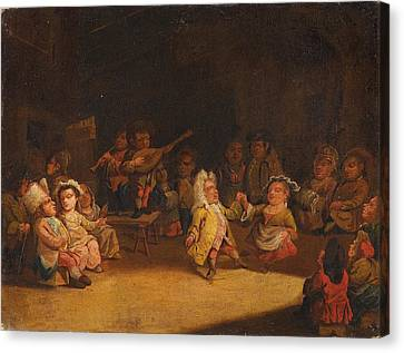 Dwarfs In A Tavern Canvas Print by Celestial Images