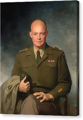 Dwight D Eisenhower Canvas Print by Mountain Dreams