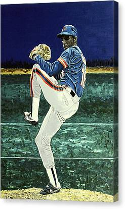 Dwight Gooden - New York Mets Canvas Print by Mike Rabe