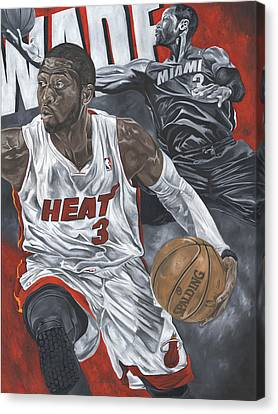 Dwyane Wade Canvas Print by David Courson