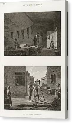 Dyeing And Rope-making Canvas Print by General Research Division/new York Public Library
