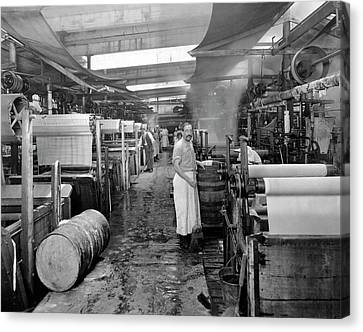 Dyeing Silk Canvas Print