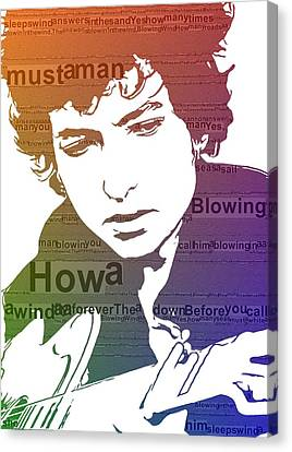 Dylan Blowin In The Wind Canvas Print by Dan Sproul
