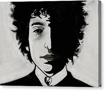 Canvas Print featuring the painting Dylan by Jeff DOttavio