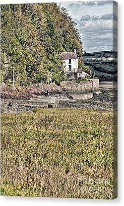 Dylan Thomas Boathouse At Laugharne 2 Canvas Print by Steve Purnell