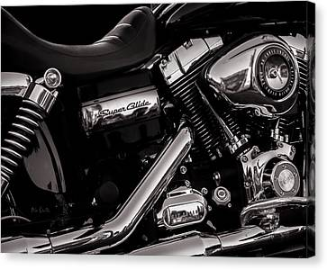 Canvas Print featuring the photograph Dyna Super Glide Custom by Bob Orsillo