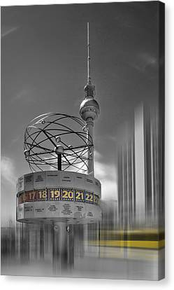 Dynamic-art Berlin City-centre Canvas Print by Melanie Viola