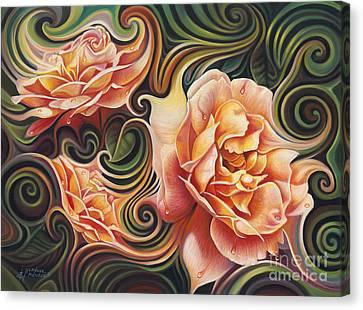 Dynamic Floral V  Roses Canvas Print