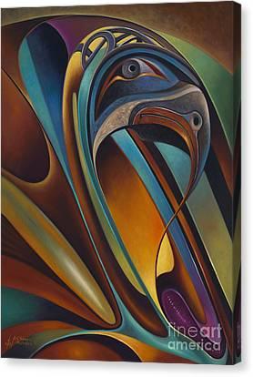 Dynamic Series #17 Canvas Print by Ricardo Chavez-Mendez