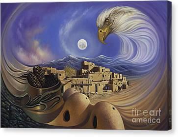 Pueblo Canvas Print - Dynamic Taos Ill by Ricardo Chavez-Mendez