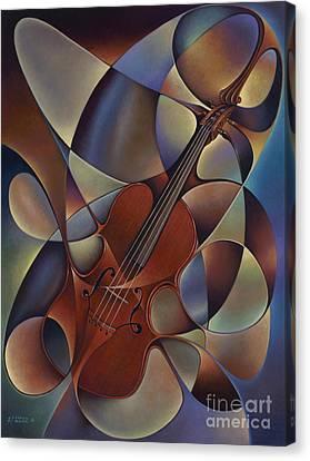 Dynamic Violin Canvas Print