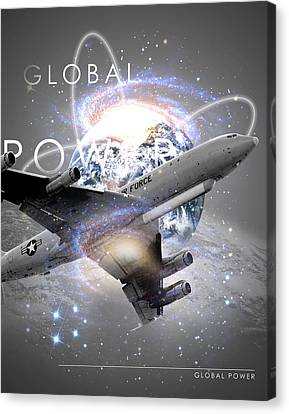 Jet Star Canvas Print - E-8 Joint Stars --- Global Power by Reggie Saunders