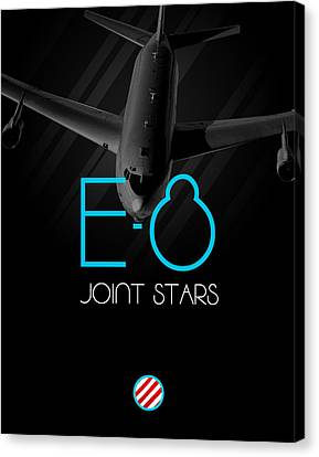 Jet Star Canvas Print - E-8 Joint Stars Blackout by Reggie Saunders