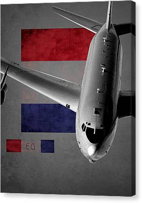 Jet Star Canvas Print - E-8 Joint Stars Flag Spirit by Reggie Saunders