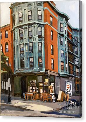 E And W Broadway Canvas Print by Deb Putnam