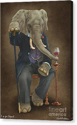 E Is For Elegant... Canvas Print
