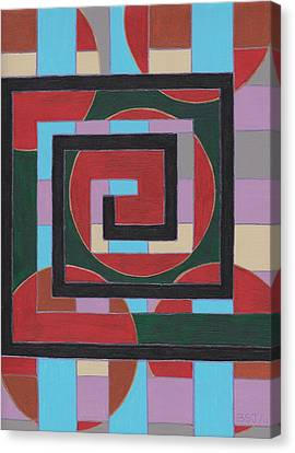 E Squared Canvas Print by Barbara St Jean