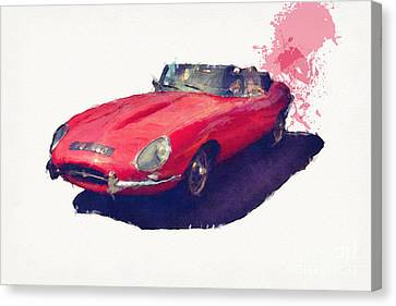 E Type Canvas Print by Roger Lighterness