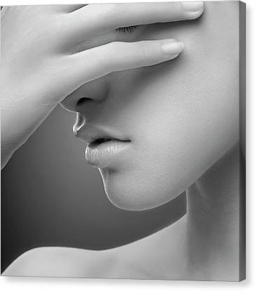 Hidden Face Canvas Print - E by Widi Hardhanu