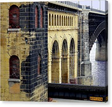 Eads Bridge Canvas Print by Wendy Raatz Photography