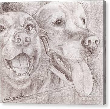 Eager Best Friends Canvas Print by Audra D Lemke