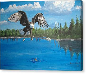 Eagle Attack Canvas Print by Norm Starks