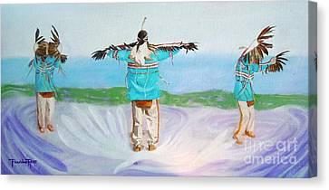 Eagle Dance Canvas Print by Pauline Ross