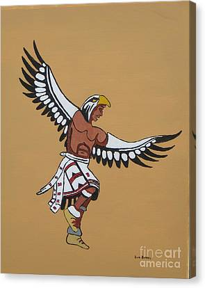 Eagle Dancer Canvas Print by Bud  Barnes