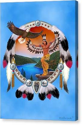 Eagle Dancer Canvas Print by Glenn Holbrook