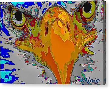 Eagle Eyes Canvas Print by Rebecca Flaig