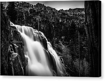 Eagle Falls Black And White Canvas Print by Scott McGuire