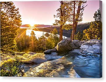 Trees Canvas Print - Eagle Falls Emerald Bay Lake Tahoe Sunrise First Light by Scott McGuire